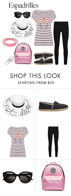 """Espadrilles"" by dgia ❤ liked on Polyvore featuring TOMS, Oasis, 7 For All Mankind, Topshop and Swarovski"