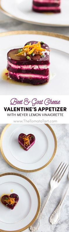 Gluten Free Beet and Goat Cheese Appetizer with Meyer Lemon Vinaigrette