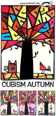 Art Sub Lessons: Art Sub Plan - Cubism Autumn  #FallArtLesson #ThanksgivingArtLesson #ArtSubLesson