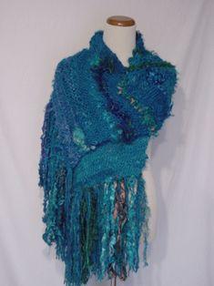 Recycled Sari Silk Shawl
