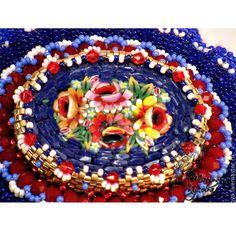 """Купить Брошь """"Вальс цветов"""" - синий, брошь, цветы, мозаика, мозаика из стекла, итальянская мозаика"""