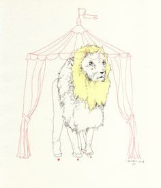 """lion in a tent"" charmaine olivia"