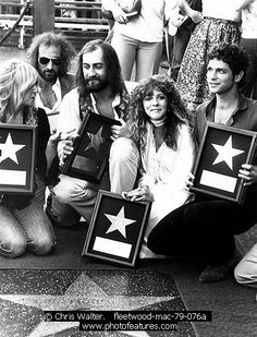 Fleetwood Mac getting their star on the Hollywood Walk of Fame 1979.
