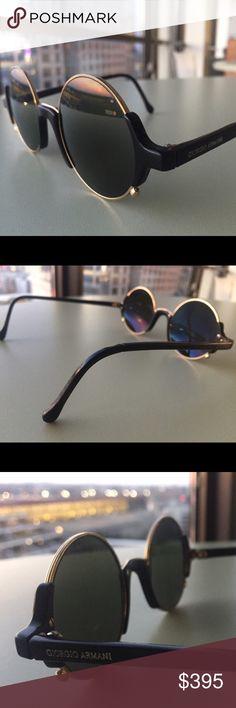 Giorgio Armani • Vintage Polarized Sunglasses What a sexy designer pair! Still in great condition, these vintage polarized sunnies are a must-have for any fashionista or fashionisto;p Dated 1980s. Very hard to find! Some very subtle wear on frames and lenses (see photos). Designer: Giorgio Armani Giorgio Armani Accessories Sunglasses