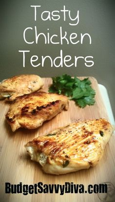 Tasty chicken tenders - were really very tasty! Great for chicken tacos!