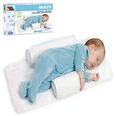 Molto New Baby Infant Newborn Sleep positioner Anti Roll Pillow With Sheet Cover