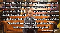 11. James Michael Tyler on playing Gunther.