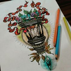 #lantern #tattoo #ink #crystal #light #candle #fire #pencil #drawing #magic #hungary