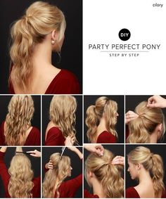 Adorably Beautiful DIY Party Perfect Ponytail Hair Tutorial