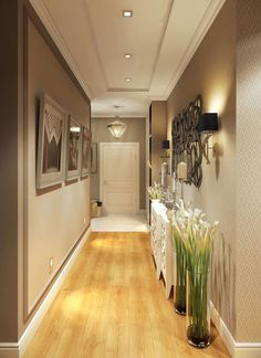 Astonishing Home Corridor Design For Your Home Inspiration - Ceiling design House Ceiling Design, Ceiling Design Living Room, House Design, Hallway Ceiling, Home Ceiling, Hallway Lighting, Entry Hallway, Ceiling Ideas, Entrance Hall