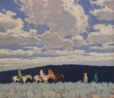 Indians in the Sage :  E.  Martin Hennings :  circa 1922…