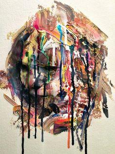 "angrywhistler: "" by AngryWhistler "" Drip Painting, Artist Painting, Modern Art, Contemporary Art, Portraits, Weird World, Art Portfolio, Teaching Art, Cool"