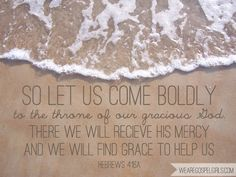 So let us come boldly to the throne of our gracious God... Hebrews 4:16a (printable memory verse at the link!) #scripture #quotes #bible
