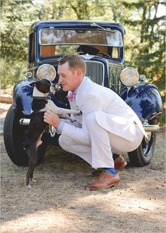 The groom and his dog