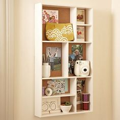Inspiration shadow box from PB Teen.  Love this! And re-pinning to the crafties board to make one myself