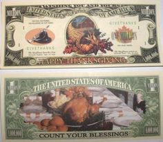 Set of 10 Bills-Thanksgiving Million Dollar Bill by Novelties Wholesale. $0.01. ###############################################################################################################################################################################################################################################################