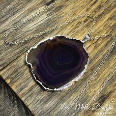 Agate Necklace, Purple Agate Necklace, Purple #jewelry #necklace @EtsyMktgTool http://etsy.me/2bYTDuH