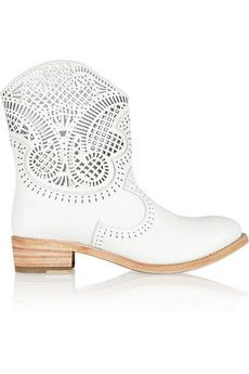 Sergio Rossi Laser-Cut Boots-perfect for a rustic wedding!