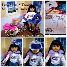 Doll Craft – Travel Accessories for your Doll - @Christy Crowder you could make these for when y'all visit next month :)