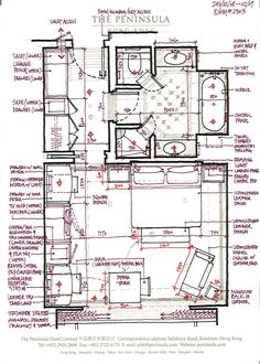 hotel planos The Peninsula Hong Kong Hotel Floor Plan, House Floor Plans, Interior Architecture Drawing, Architecture Plan, Peninsula Hong Kong, Resort Plan, House Layout Plans, Hotel Room Design, Hotel Concept