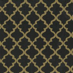 Print #1842 Black and Gold Quatrefoils Fabric Finder's Inc. #sewing #quatrefoils #quatrefoil #quatrefoilfabric #fabricdesign #sew #sewing #cottonfabric #geometricfabric