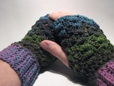 Soft and chunky lace fingerless gloves in by CozyCornerCrochets, $22.00