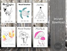 Bullet journal mood trackers - Hand Drawn Style - Printable - 2021 Bujo - Calendar - Filofax A5, A4, Letter - Planner Inserts - mood tracker Evoletjournal etsy April Bullet Journal, Bullet Journal Mood, Tacker, Mood Tracker, Planner Inserts, Letter Size, Journal Pages, Filofax, As You Like