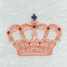 This free embroidery design is a crown.