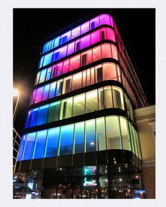 Colorful Glass-Windowed Building,Tallinn, Estonia. #colourfulestonia #visitestonia