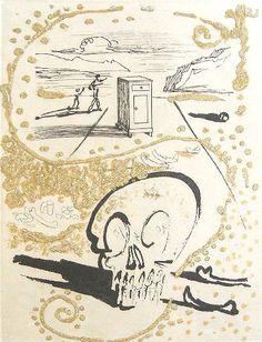 "Salvador Dali (1904-1989)  ""Les Amour Jaunes: Insomnia"" Original intaglio   Literature: Field, A. The Official Catalogue of the Graphic Works of Salvador Dali (1996), Pg. 96, Ref #74-15G  Hochman, B. Graphic works of Salvador Dali, Pg. 115, Ref #1974.6  www.robinrile.com #DALI"