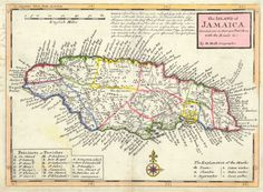 the Island of Jamaica Divided Into Its Principal Parishes With The Roads &c.  Moll, H. 1720.