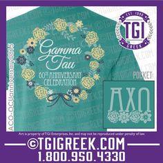 TGI Greek - Alpha Chi Omega - Anniversary - Comfort Colors - Greek T-shirts  #tgigreek #alphachiomega #comfortcolors