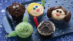 May the Force be with you! Have fun making these Star Wars galactic-inspired cupcakes! Gather a group of kid Star Wars fans, and serve these up during your next Star Wars-themed movie party!