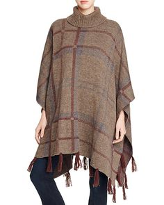 $Barbour Plaid Knit Poncho - Bloomingdale's
