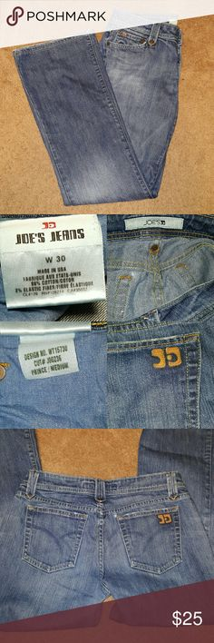 Joe's Jeans size 30 Prince cut, medium wash Joe's Jeans in size 30. Has some distressing on the bottoms and a small bit near the back pockets. Joe's Jeans Jeans Flare & Wide Leg