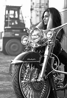 Shop Our Latest Print Collec Lavernia ? Shop Our Latest Print Collec Biker Tattoo Biker girl sitting on motorcycle by johan_k on BABES RIDE OUT 5 Motos Vintage, Vintage Motorcycles, Custom Motorcycles, Motos Harley, Harley Davidson Motorcycles, Harley Gear, Triumph Motorcycles, Motorbike Girl, Motorcycle Outfit