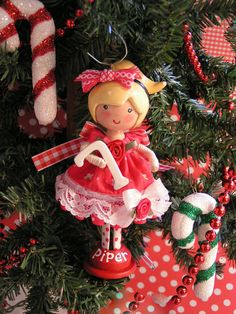 """6"""" high- 2 1/2 wide   Personalize this handcrafted, altered, clothespin doll. A treasured gift and a treasured gift giver- YOU ♥"""
