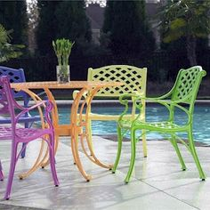 paint my wrought iron chairs find these at brooklyn flea market - Cast Iron Patio Furniture