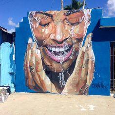 @kiliallano wall in Santo Domingo, Dominican Republic (2016) • #killiano #urbanart #streetart #painting #streetartofficial…