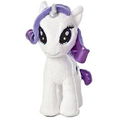 "Aurora World My Little Pony Rarity Pony Plush, 6.5"" ** Find out more about the great product at the image link. (This is an affiliate link) #StuffedAnimalsPlushToys"