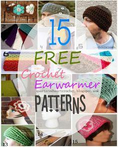 15 FREE Crochet Headband / Ear Warmer Patterns to Make - Quartered Heart Crochet