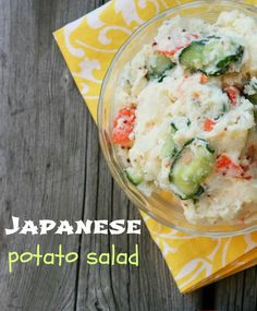 Japanese potato salad. Yes, Japan has its own version of potato salad. And it's awesome. Repin to save!