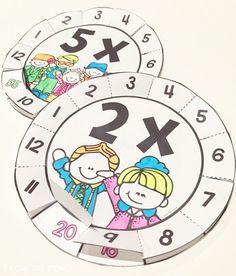 Multiplication Wheels Interactive Fun for Times Tables by sherry Math For Kids, Fun Math, Math Resources, Math Activities, Multiplication Wheel, Third Grade Math, Math Numbers, Homeschool Math, Math Facts