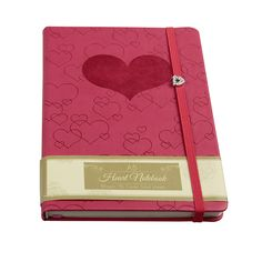 A5 Heart Notebook With Gem #valentines