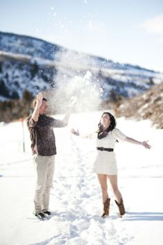 a fun-filled snowy engagement shoot in Colorado by Brinton Studios - see more on COUTUREcolorado http://www.couturecolorado.com/wedding/2013/07/22/a-snowy-engagement-shoot/