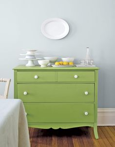 Dresser as a sideboard~ Rescue and Revive and old Dresser with paint and new purpose.