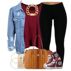 A fashion look from September 2015 featuring Boohoo t-shirts, Converse sneakers and MCM tote bags. Browse and shop related looks.
