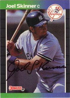 Joel Skinner signed 1988 Donruss Trading Card