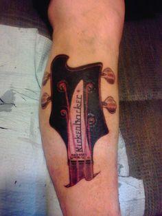 rickenbacker bass head tattoo