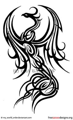 tribal phoenix tattoo designs | Phoenix Tattoos